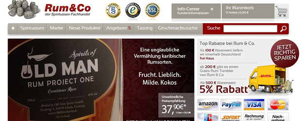 Rum & Co - einer der Top Shops 2014